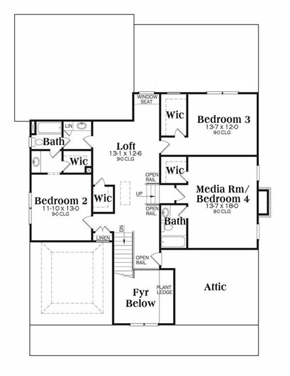104-1074: Floor Plan Upper Level