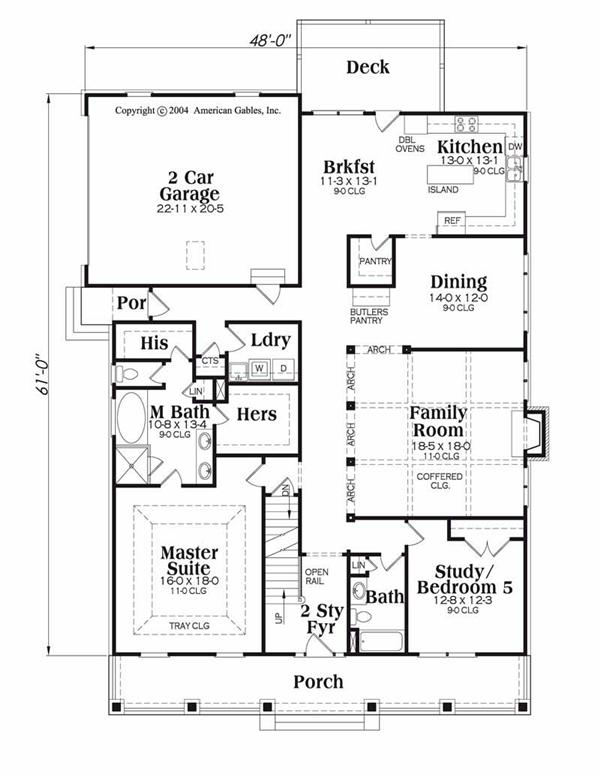 House Plan Greystone Main Floor Plan