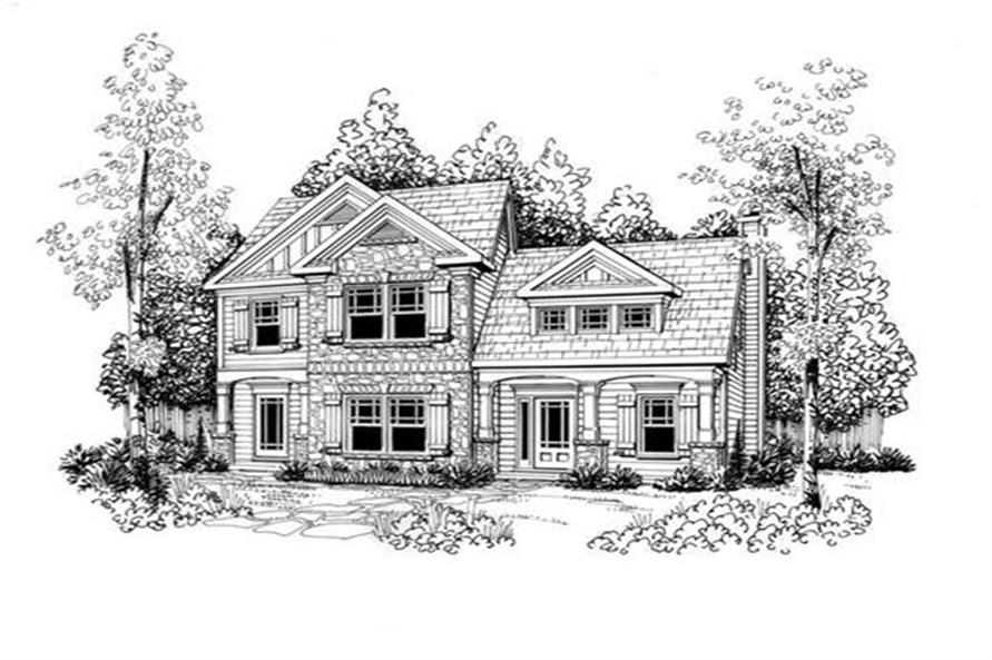 Front Elevation of this 3-Bedroom,1708 Sq Ft Plan -1708