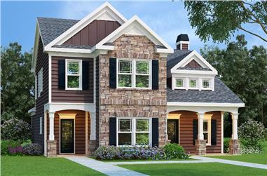 3-Bedroom, 1708 Sq Ft Traditional House Plan - 104-1075 - Front Exterior