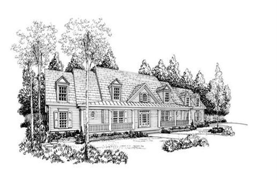 Home Plan Rendering of this 4-Bedroom,3681 Sq Ft Plan -104-1076