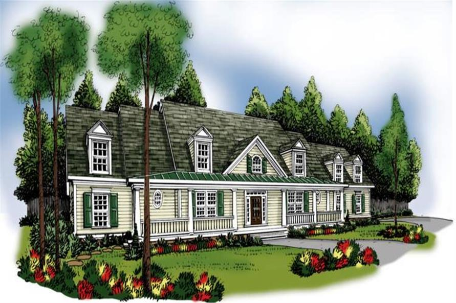 4-Bedroom, 3681 Sq Ft Cape Cod House Plan - 104-1076 - Front Exterior