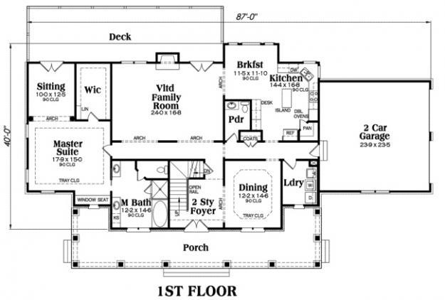 House Plan Kingston Main Floor Plan