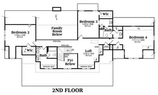 House Plan Kingston Second Floor Plan