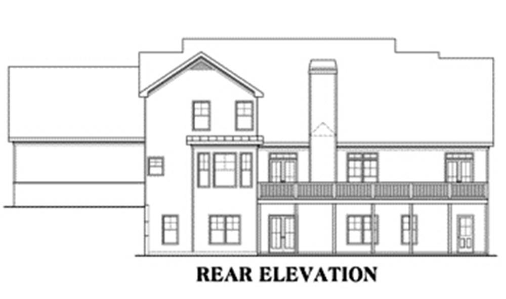 House Plan Kingston Rear Elevation