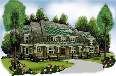 4-Bedroom, 3735 Sq Ft Traditional House Plan - 104-1077 - Front Exterior