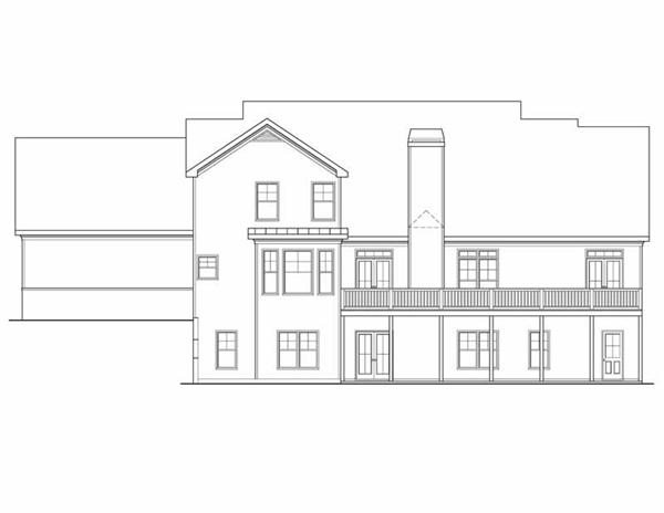 House Plan Kingston Rear Elevation