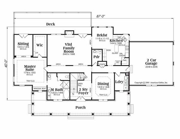 House Plan Kingston Main Floor Plan