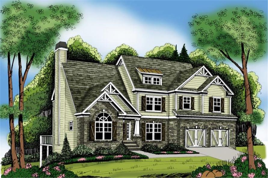 4-Bedroom, 2763 Sq Ft Craftsman Home Plan - 104-1078 - Main Exterior