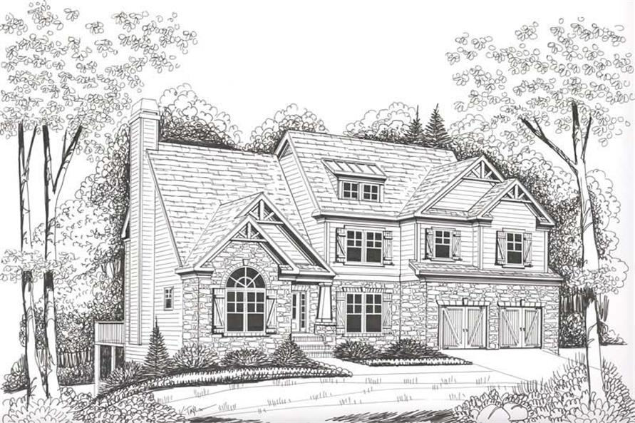 Home Plan Rendering of this 4-Bedroom,2763 Sq Ft Plan -104-1078