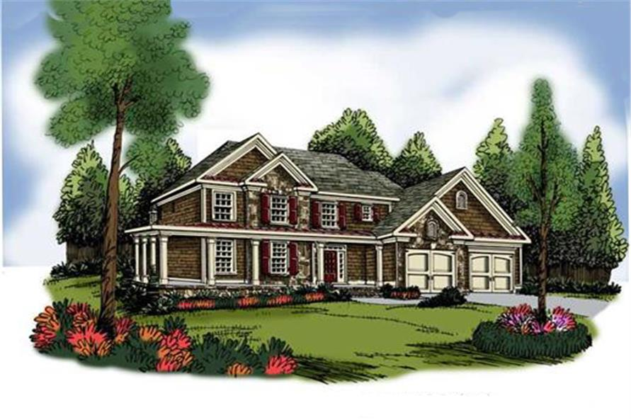 Home Plan Rendering of this 4-Bedroom,3317 Sq Ft Plan -3317