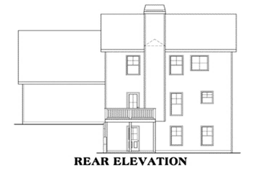 House Plan Yorktown Rear Elevation