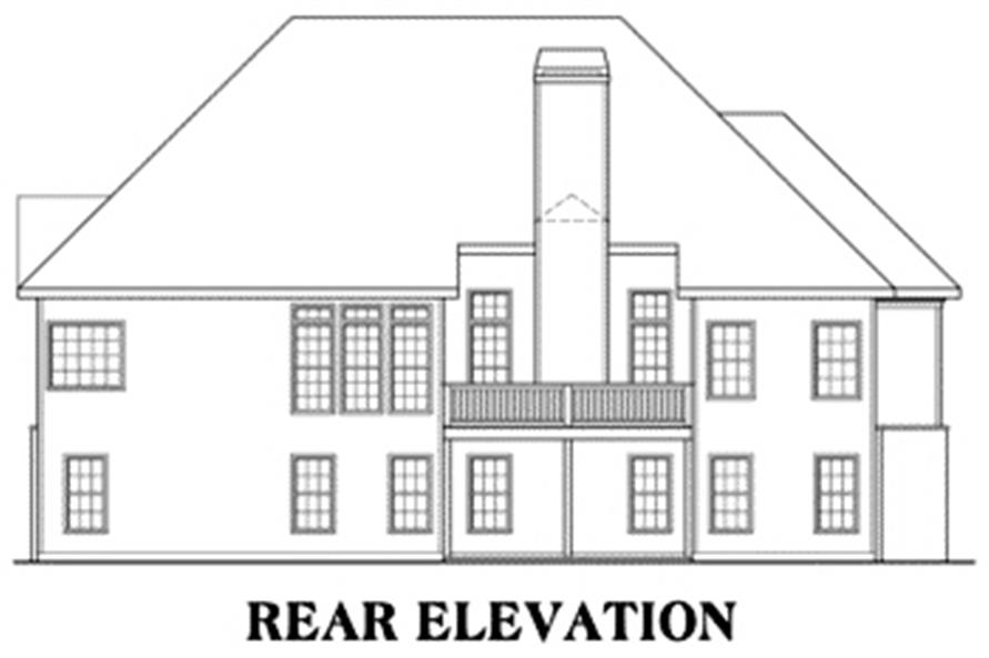 House Plan Eastwood Rear Elevation