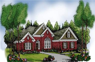 4-Bedroom, 2406 Sq Ft European House Plan - 104-1081 - Front Exterior