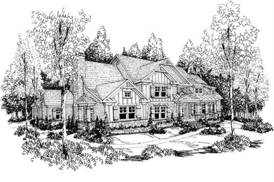 Home Plan Rendering of this 5-Bedroom,4405 Sq Ft Plan -104-1082