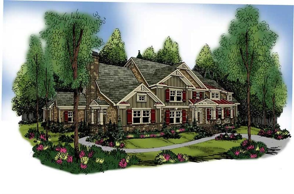 Main image for craftsman house plans # 17221