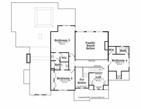 House Plan Mackenzie Second Floor Plan