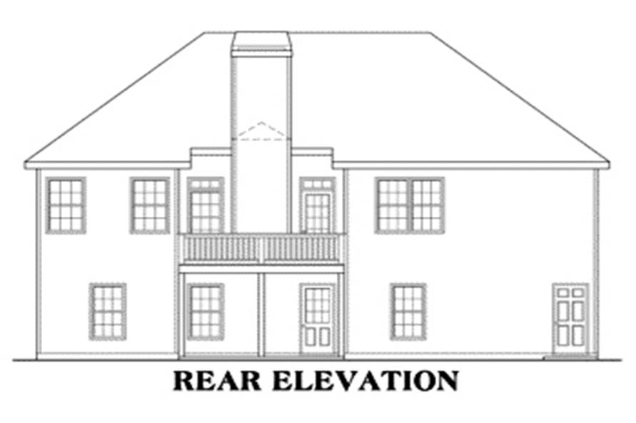 House Plan Dayton Rear Elevation