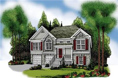 3-Bedroom, 1781 Sq Ft Small House Plans - 104-1083 - Main Exterior