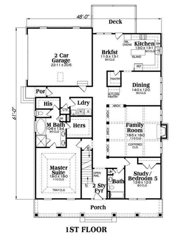 House Plan Peachtree Main Floor Plan