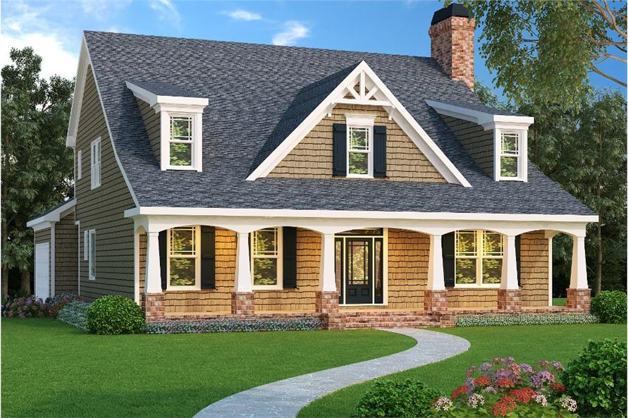 5-Bedroom, 3525 Sq Ft Cape Cod House Plan - 104-1084 - Front Exterior