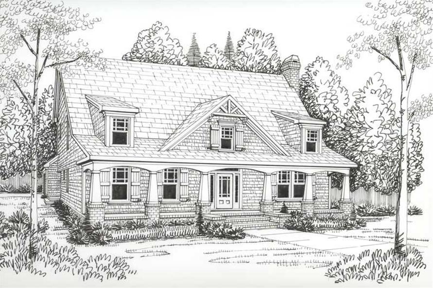 House Plan Peachtree Front Elevation