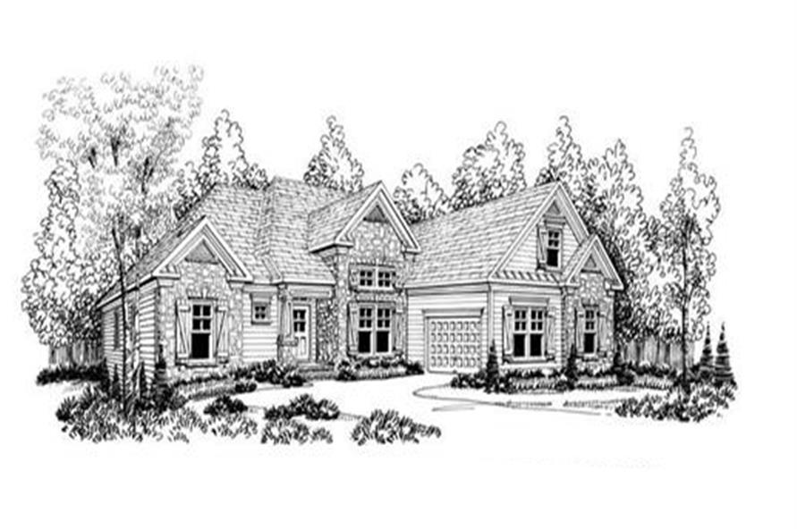 Home Plan Rendering of this 4-Bedroom,2068 Sq Ft Plan -104-1086