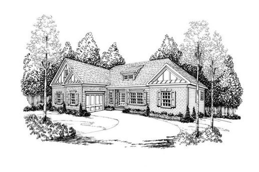Front Elevation of this 3-Bedroom,2107 Sq Ft Plan -2107