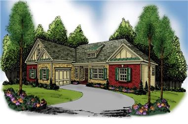 3-Bedroom, 2107 Sq Ft Craftsman House Plan - 104-1087 - Front Exterior