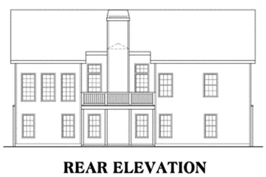 House Plan Lakeside Rear Elevation