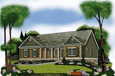 3-Bedroom, 1960 Sq Ft Ranch House Plan - 104-1088 - Front Exterior