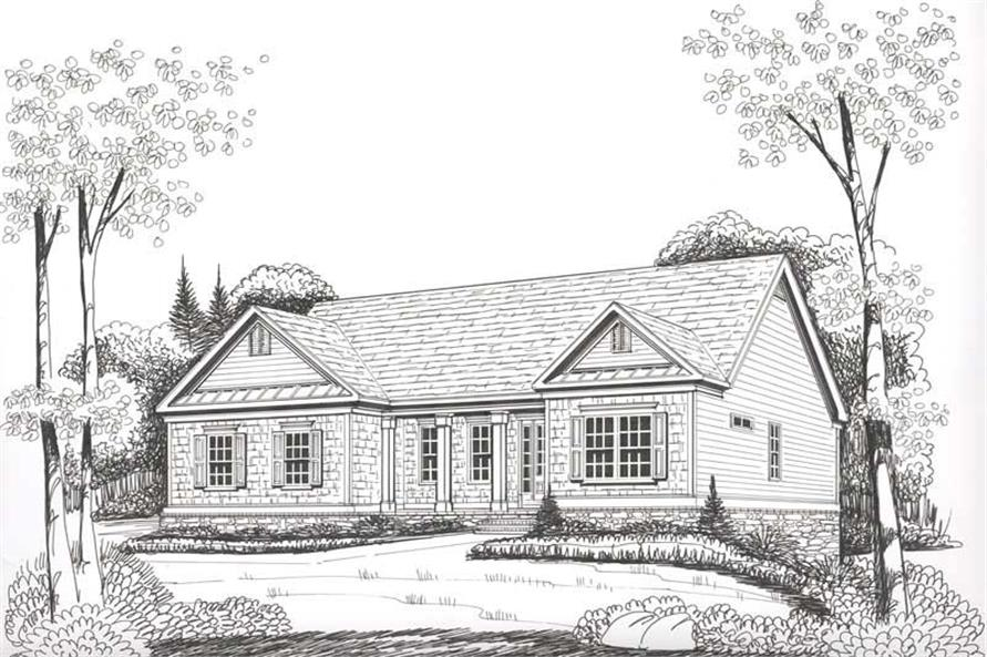 House Plan Lakeside Front Elevation