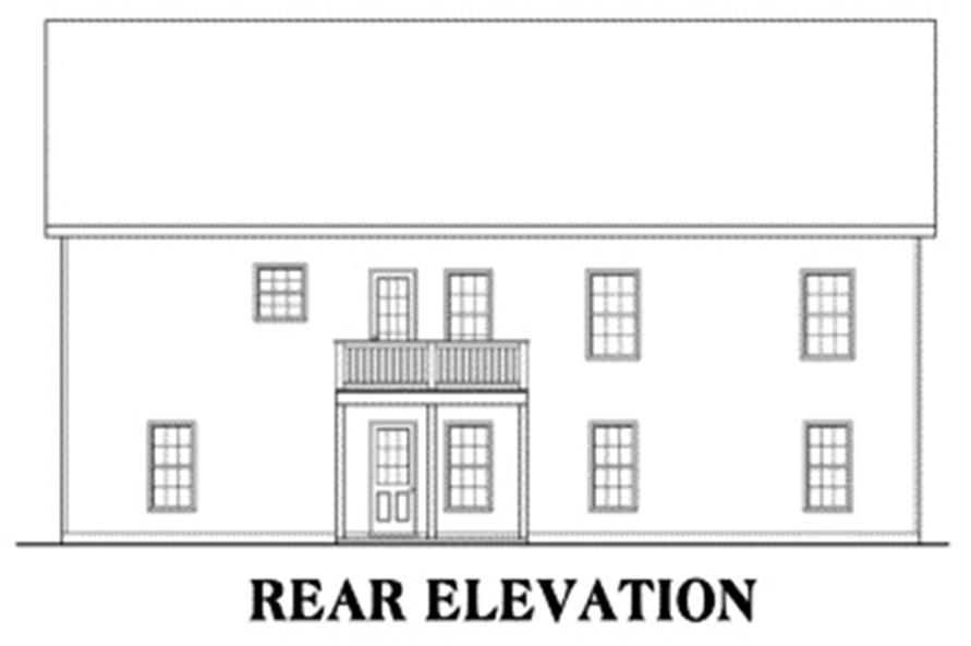 House Plan Allen Rear Elevation