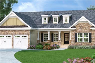 3-Bedroom, 1566 Sq Ft Country House Plan - 104-1089 - Front Exterior