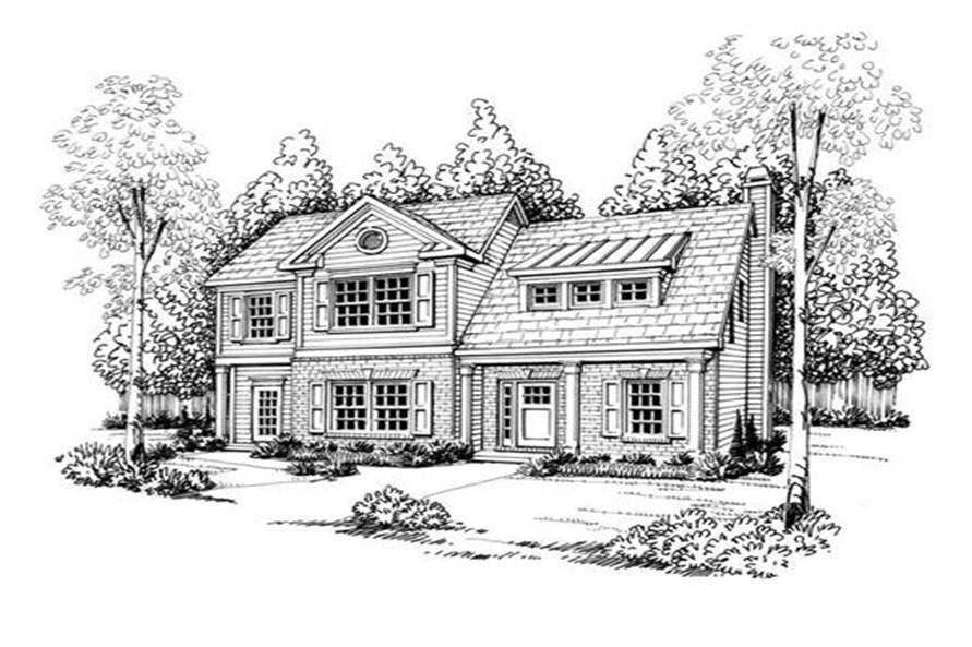 Home Plan Rendering of this 3-Bedroom,1708 Sq Ft Plan -104-1091