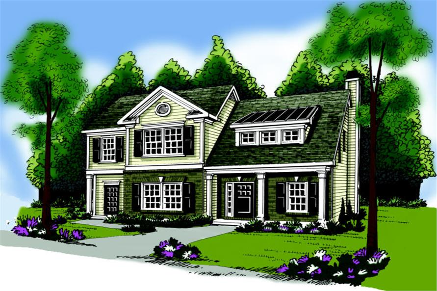 3-Bedroom, 1708 Sq Ft Small House Plans - 104-1091 - Main Exterior