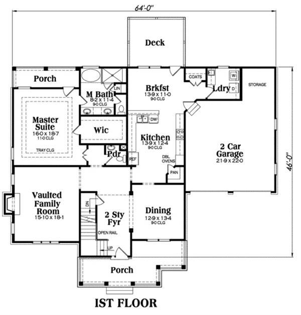 House Plan Jackson Main Floor Plan