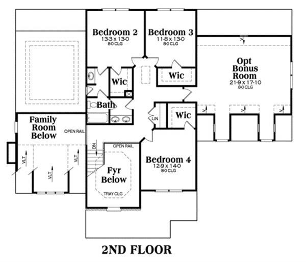 House Plan Jackson Second Floor Plan