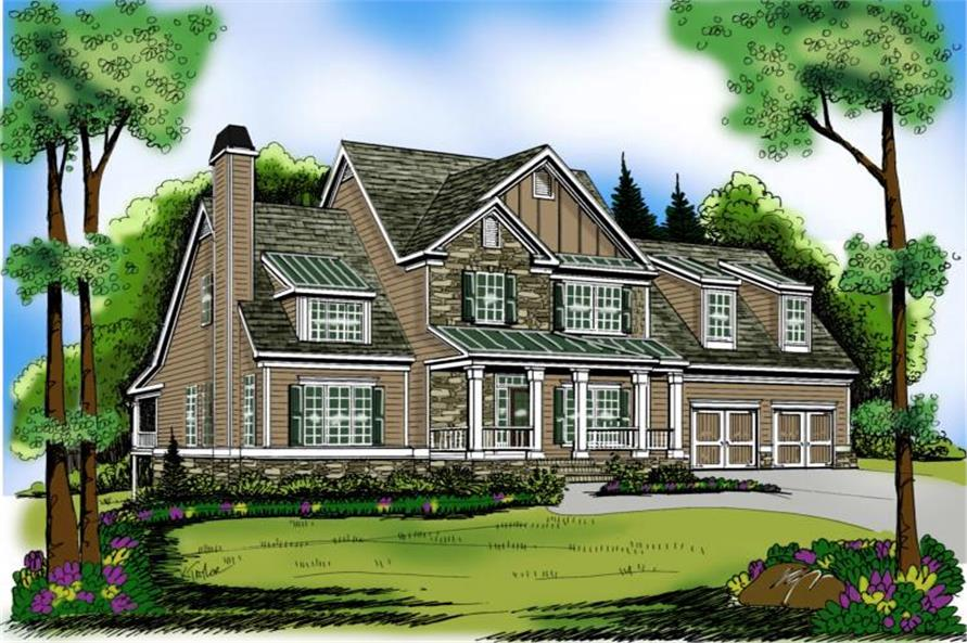 4-Bedroom, 2798 Sq Ft Craftsman Home Plan - 104-1092 - Main Exterior