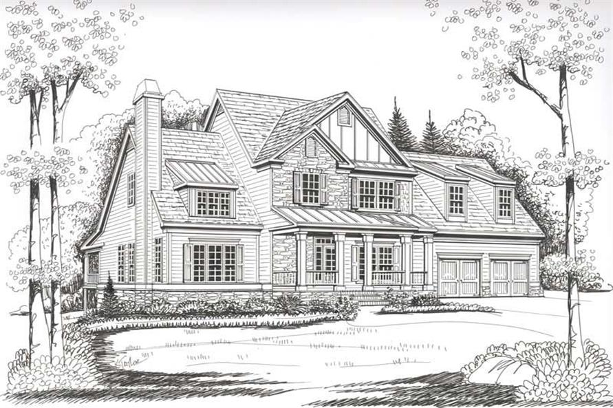 Front Elevation of this 4-Bedroom,2798 Sq Ft Plan -2798