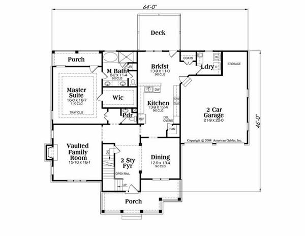 House Plan Jackson Main Floor Plan