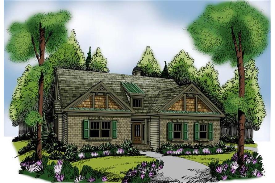 Home Plan Rendering of this 3-Bedroom,1861 Sq Ft Plan -1861