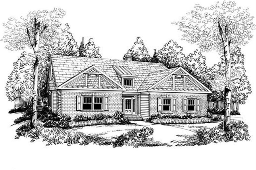 Front Elevation of this 3-Bedroom,1861 Sq Ft Plan -1861