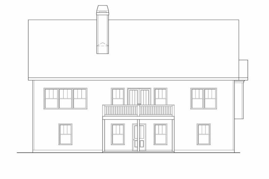 Home Plan Rear Elevation of this 3-Bedroom,1861 Sq Ft Plan -104-1093