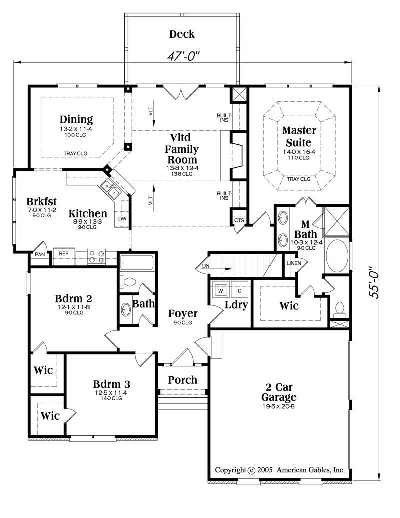 House Plan Anniston Main Floor Plan