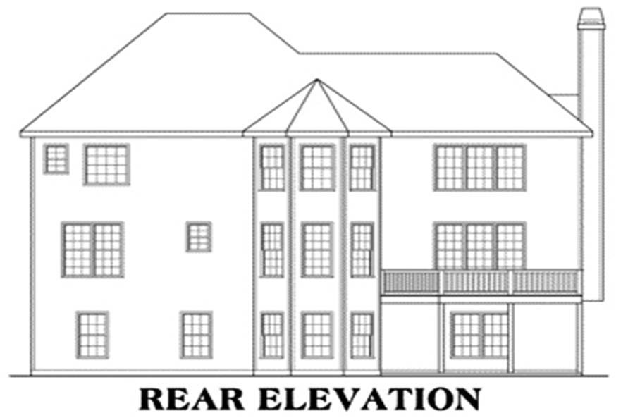 House Plan Wyngate Rear Elevation