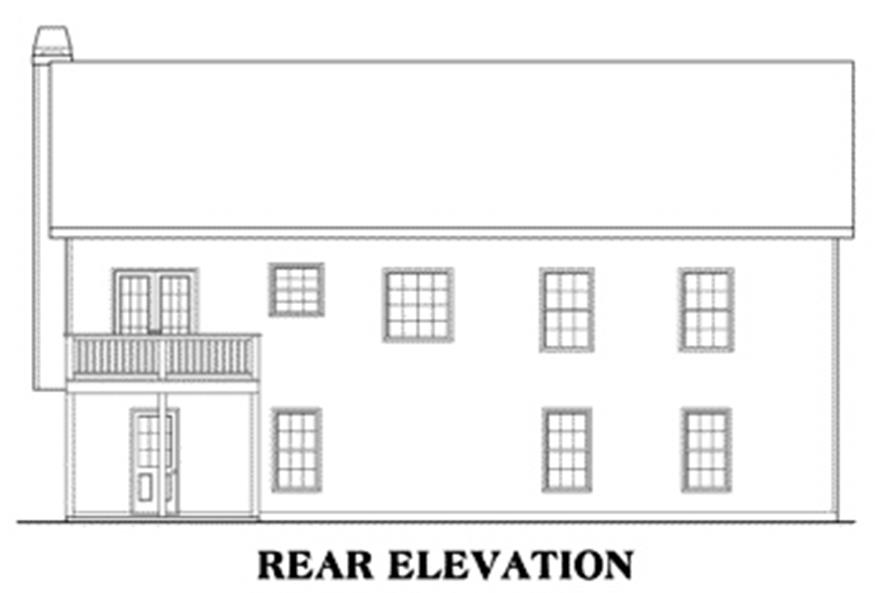 Home Plan Rear Elevation of this 3-Bedroom,1678 Sq Ft Plan -104-1095