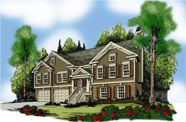 3-Bedroom, 1678 Sq Ft Small House Plans - 104-1095 - Main Exterior