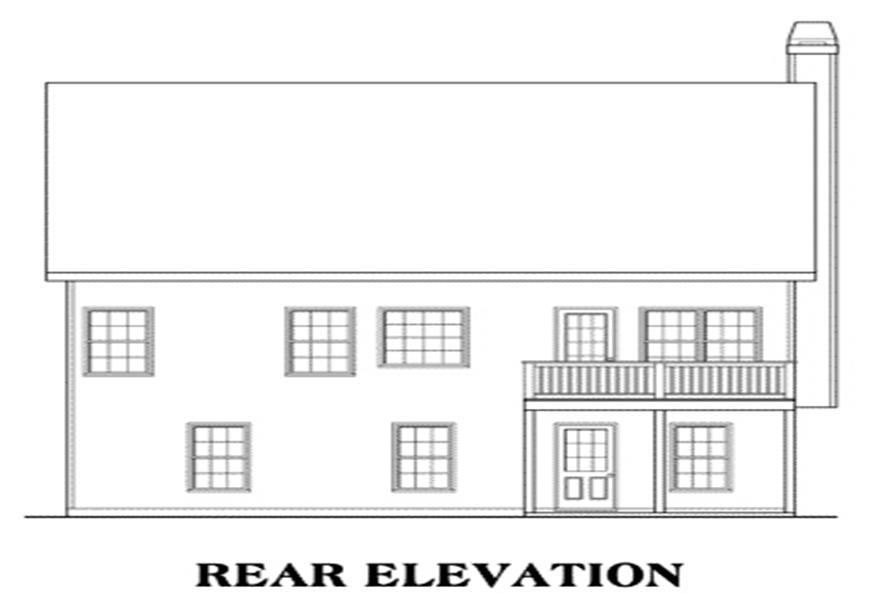 Home Plan Rear Elevation of this 3-Bedroom,1592 Sq Ft Plan -104-1096