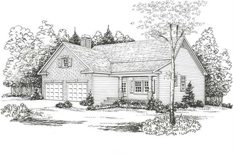 Front Elevation of this 3-Bedroom,1592 Sq Ft Plan -1592